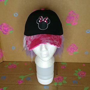 Minnie Mouse Tie Dye Pink Baseball Cap Hat